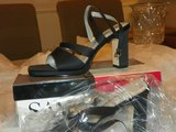 Black Satin Shoes by Sam&Libby Size 7 1/2m in Kingwood, Texas