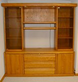 Amish Furniture Entertainment Centers Wood TV Wall in Elgin, Illinois