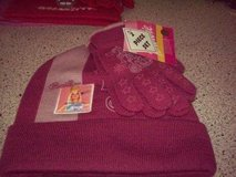 2pc Barbie PINK 2 toned Knit Hat & Gloves Set NWT in Naperville, Illinois