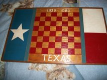 #OFC TEXAS 1836-1986 CHECKERS BOARD WOOD in Fort Hood, Texas