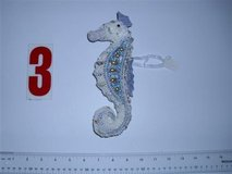 6 Beaded Seahorse ornaments new in box Gorgeous in Westmont, Illinois